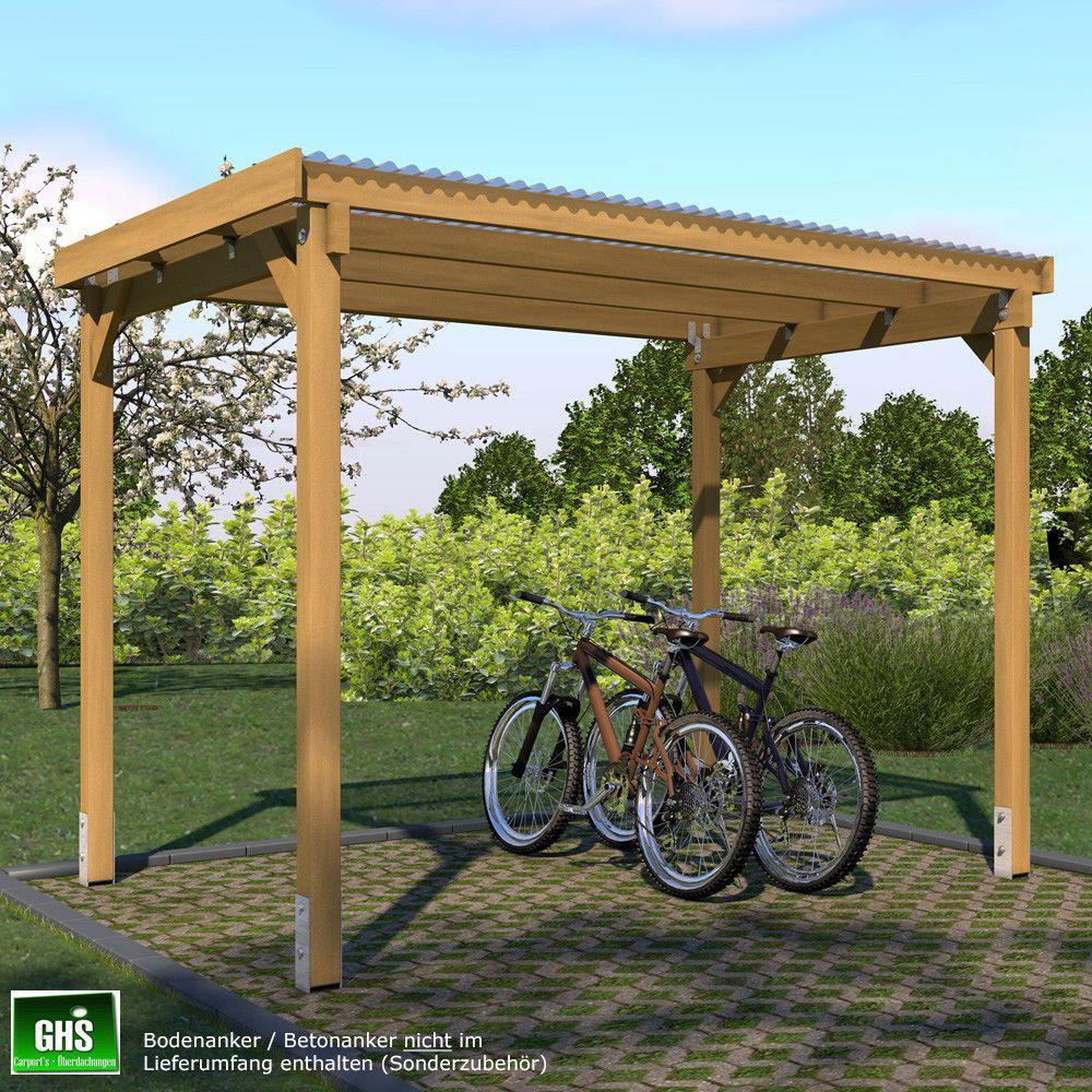 unterstand 3x2 5 m fahrrad motorrad berdachung gartenger te gartenm bel heimwerker. Black Bedroom Furniture Sets. Home Design Ideas