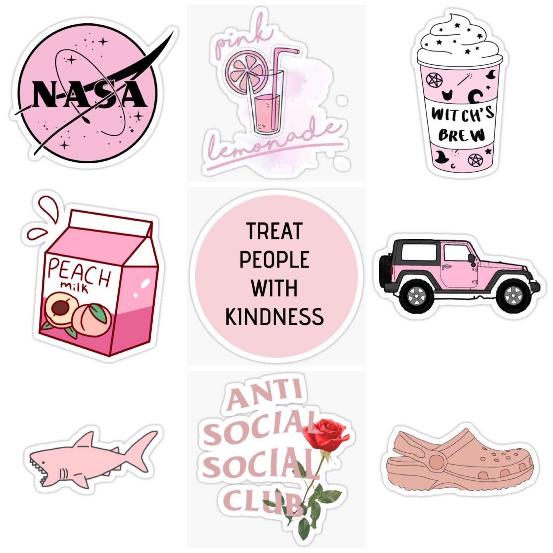 pink peachy stickers | Aesthetic stickers, Tumblr stickers ...