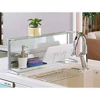 splash guard for kitchen island sink