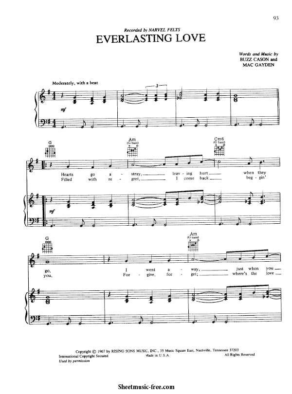 Everlasting Love Sheet Music Jamie Cullum Music Pinterest