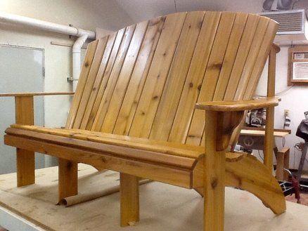 Grandpa Grandma Style Adirondack Bench Rustic Bench Seat Rustic Furniture Wood Furniture Plans