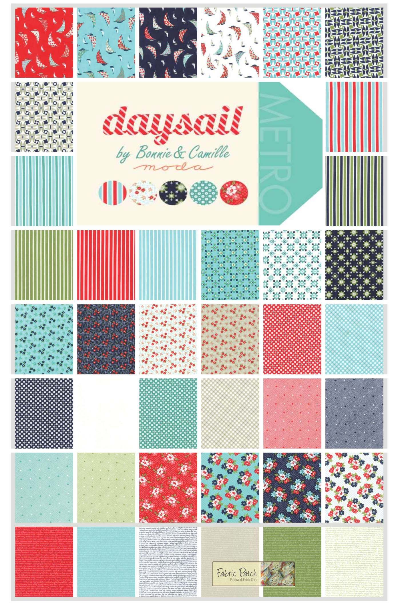 Daysail Jelly Roll Applique, patchwork and quilting fabric. Bonnie ... : moda quilting fabric - Adamdwight.com