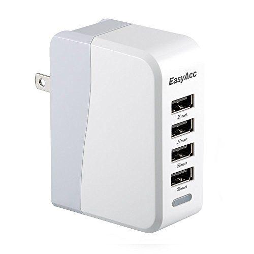 easyacc 20w 4a 4port usb wall charger with folding plug on usb wall charger id=94577
