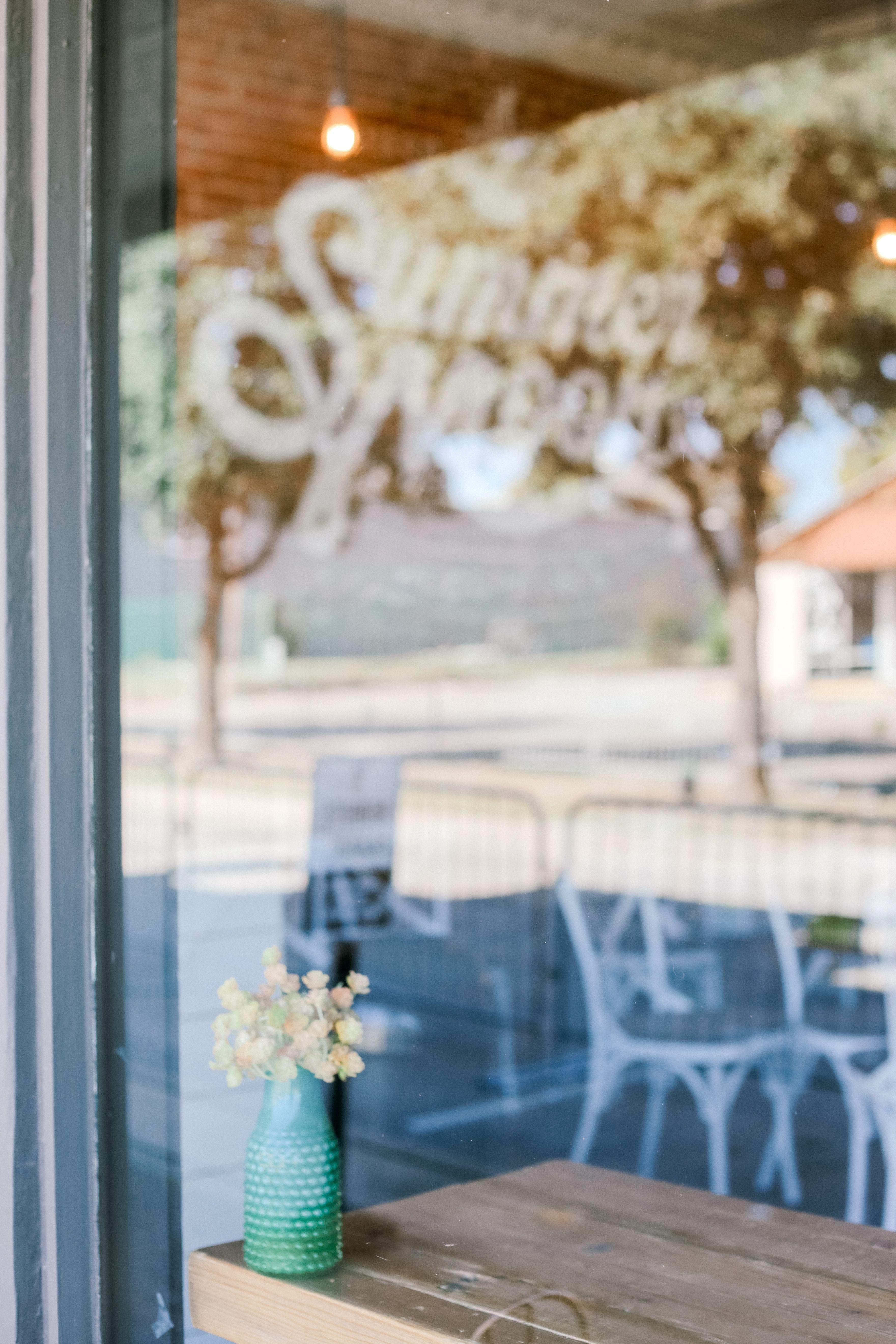 Summer Moon Coffee Bar / Frisco, TX Table decorations