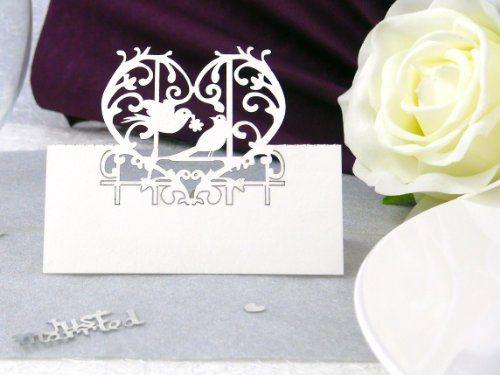 Besondere Tischkarten Tauben Für Ihre Hochzeit Von Ein