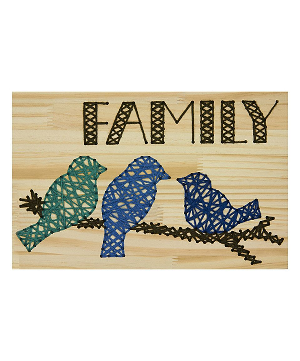 This \'Family\' Wood Cross-Stitch Wall Art Kit by Dimensions ...