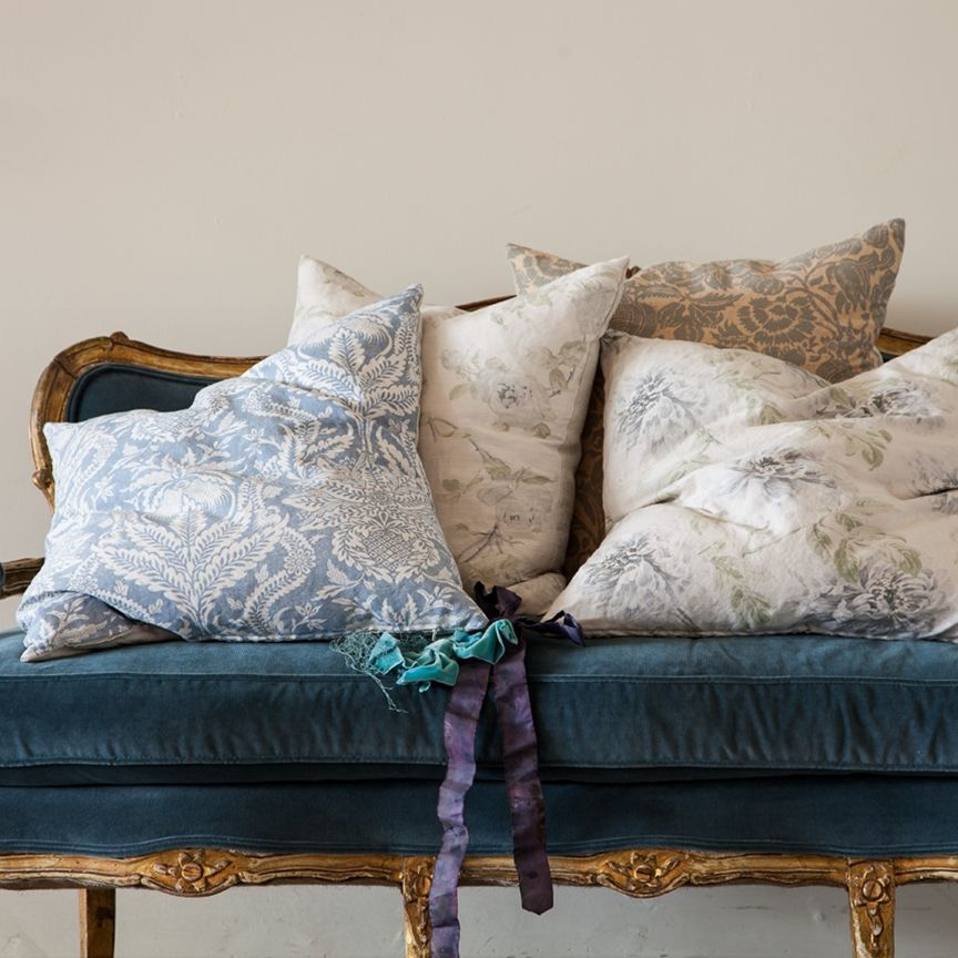 Shabby Chic Deer Pillow : Bennison Decorative Pillows ~ Rachel Ashwell collection ~ Shabby Chic Style & Inspiration # ...