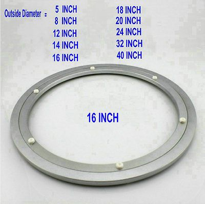 16 INCH 400MM OD Quiet Smooth Aluminium Lazy Susan Table Bearing
