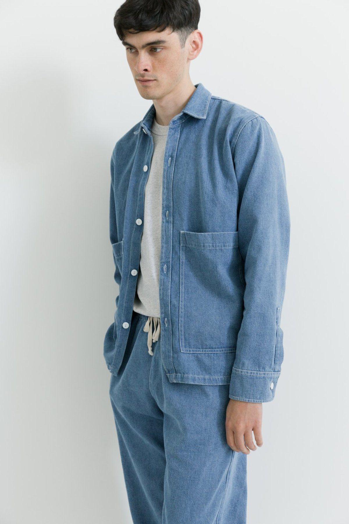 Unisex Ijji Work Jacket Denim On Garmentory Work Jackets Unisex Jacket Outerwear Jackets [ 1800 x 1200 Pixel ]