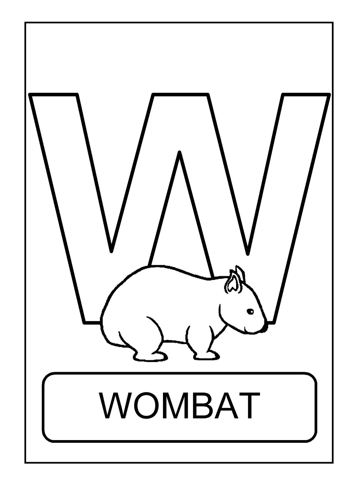 Alfabeto Com Animais Animais Para Colorir Alfabeto Animais