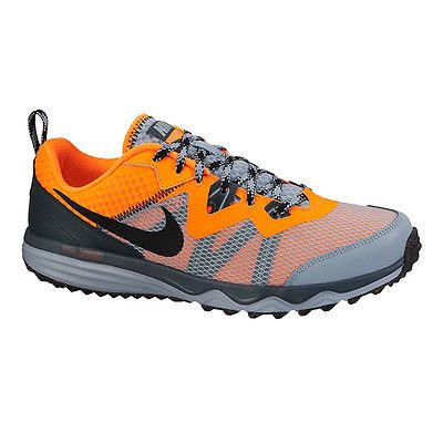 separation shoes 07a85 e6527 Nike Dual Fusion Trail III Grey and Orange Trail Shoes Men