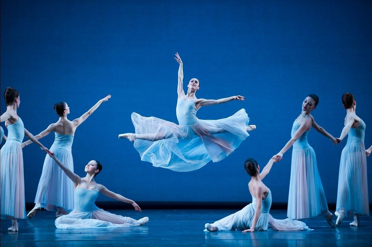 Marianela Nuñez and artists of The Royal Ballet in Serenade by George Balanchine, The Royal Ballet 2014