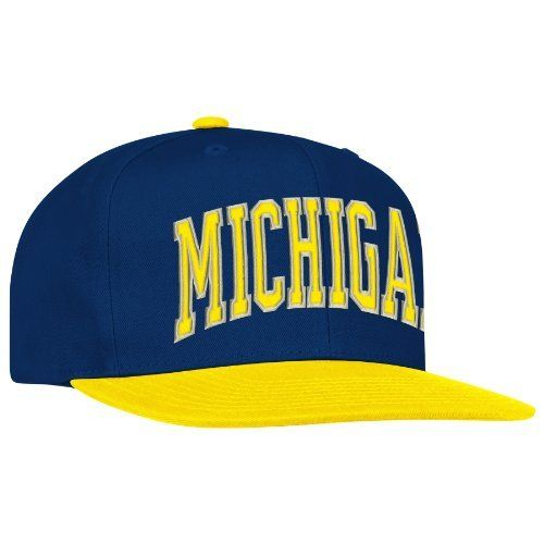 finest selection fa6bb 4303b ... spain ncaa michigan wolverines logo snapback hat one size fits all navy  yellow adidas 667e4 c9967