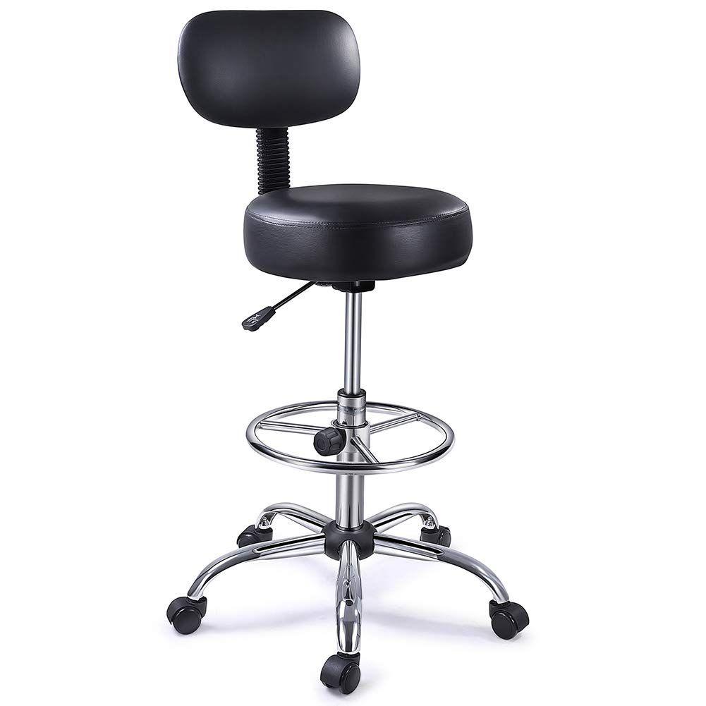 Superjarer Drafting Chair With Back Adjustable Foot Rest Swivel