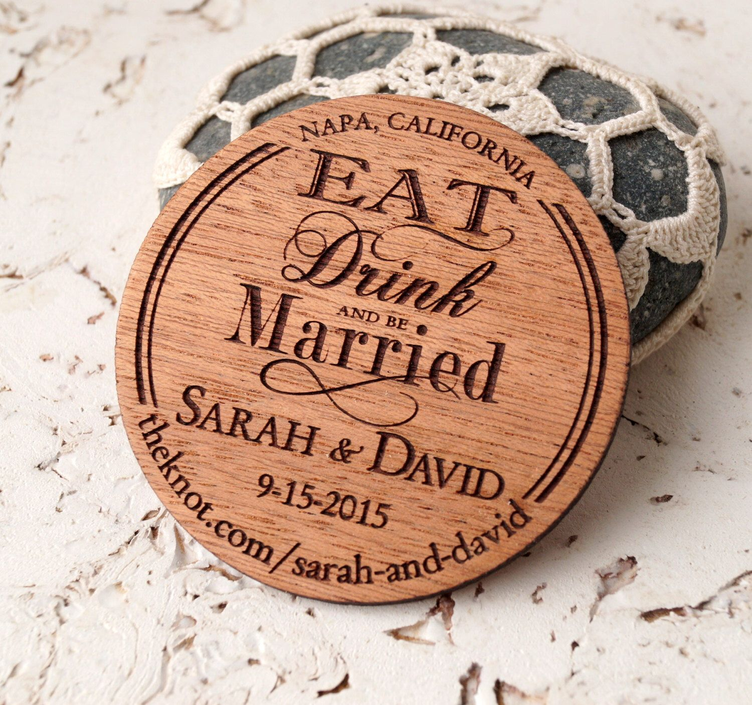 Save the Date rustic wooden save the dates
