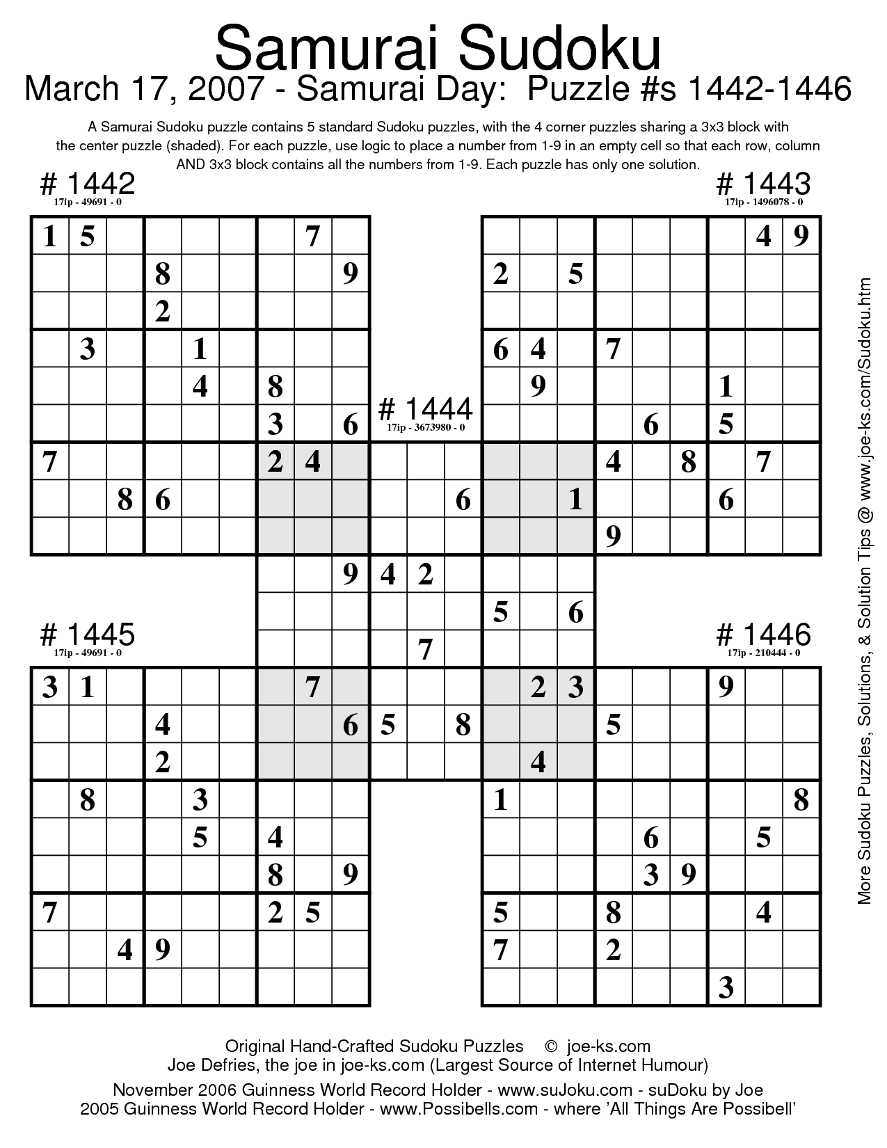 sudoku puzzles | Document Sample Sudoku Puzzles, Brain Teasers, Ancient  Aliens, Crossword,