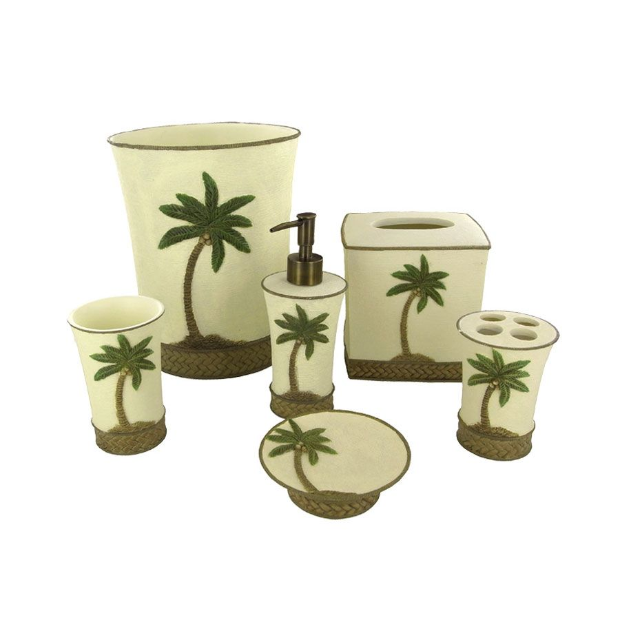 tommy bahama bathroom accessories palm tree bathroomdecor - Palm Tree Decor