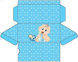 AQUARELINHA: Kit Chá de Bebê Azul