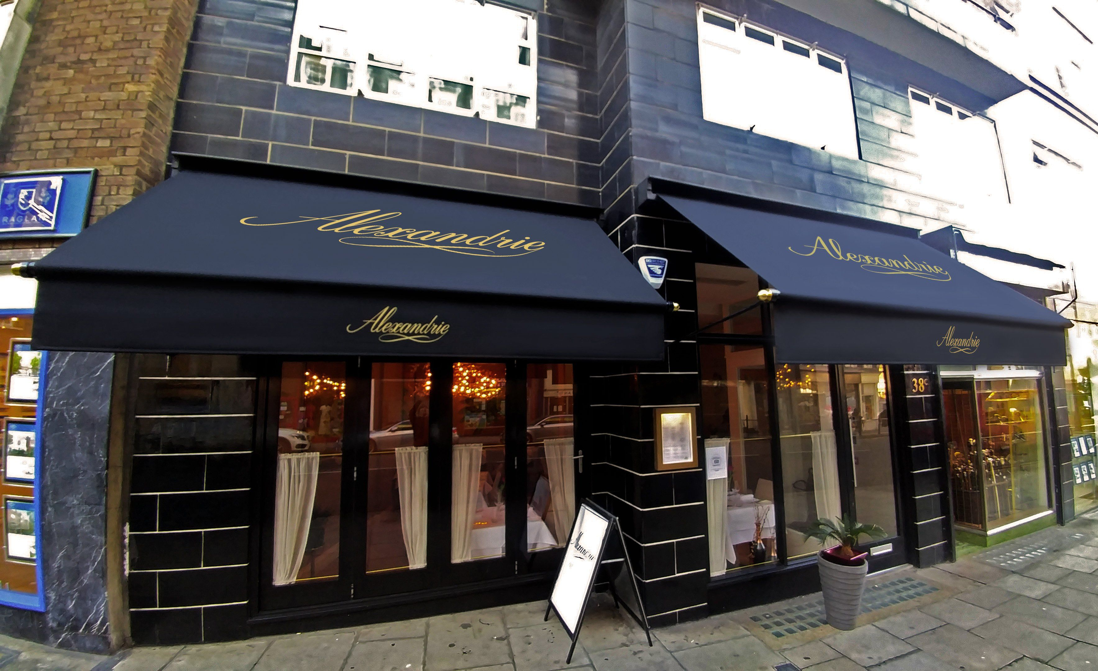 Awnings At Alexandrie Restaurant Awnings We Made Pinterest