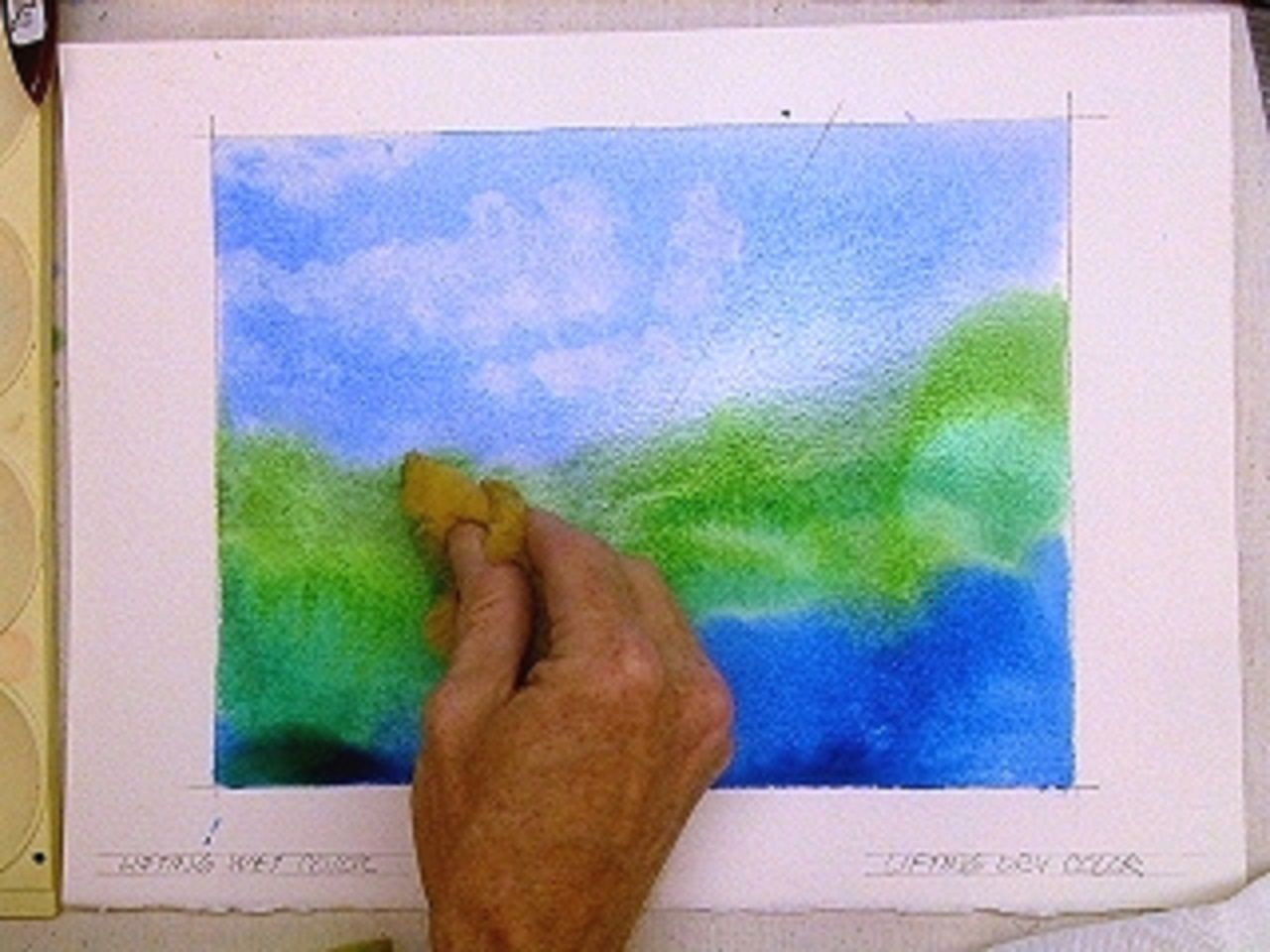 Watercolor Technique To Lift Erase Watercolor Painting Turner