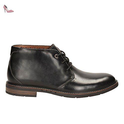 En Noir Unelott Homme Cuir Clarks Mid Classique BootsBottes Y6v7bgfy
