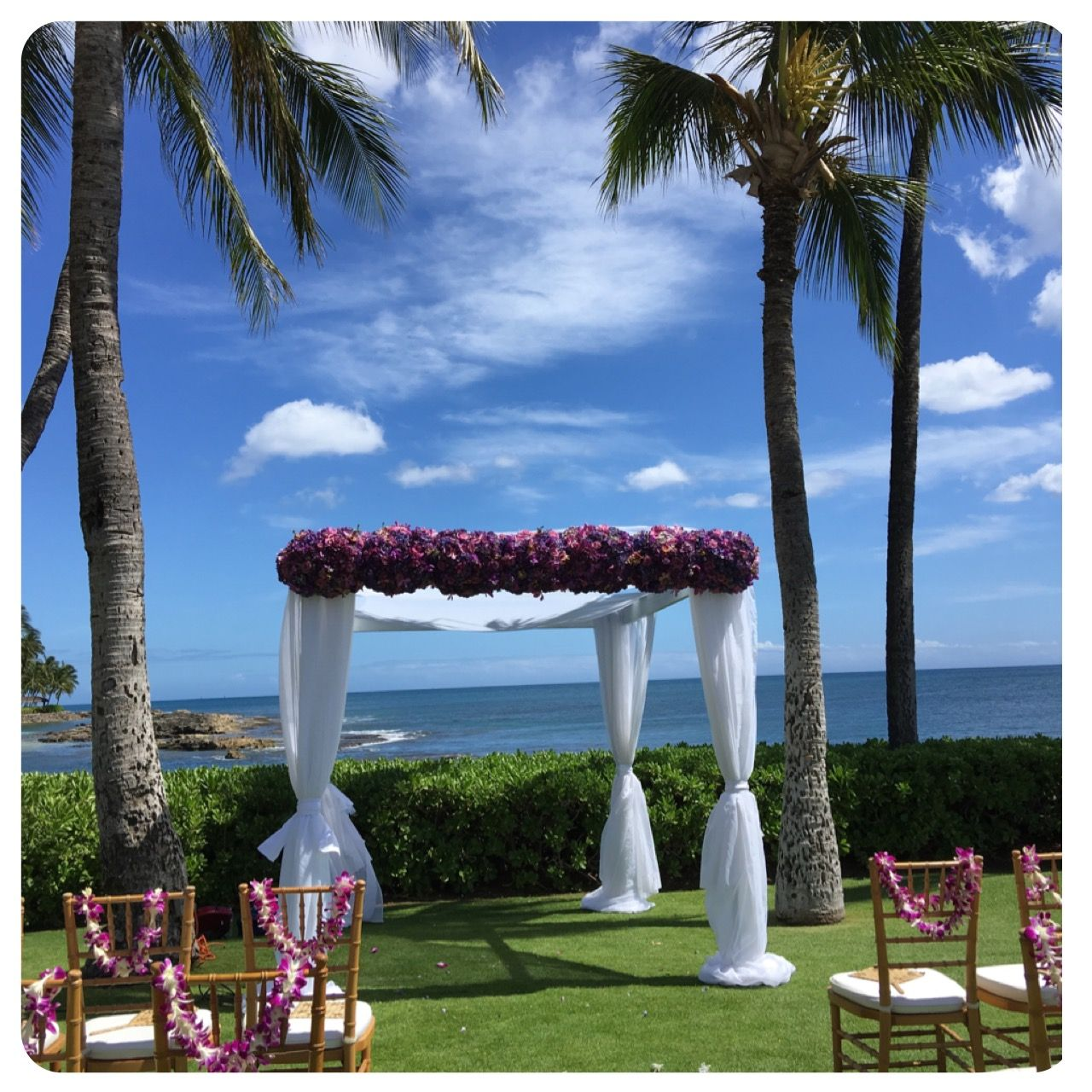 Waikiki Beach Wedding Ceremony: The Point At Paradise Cove On Oahu. Wedding Planned By
