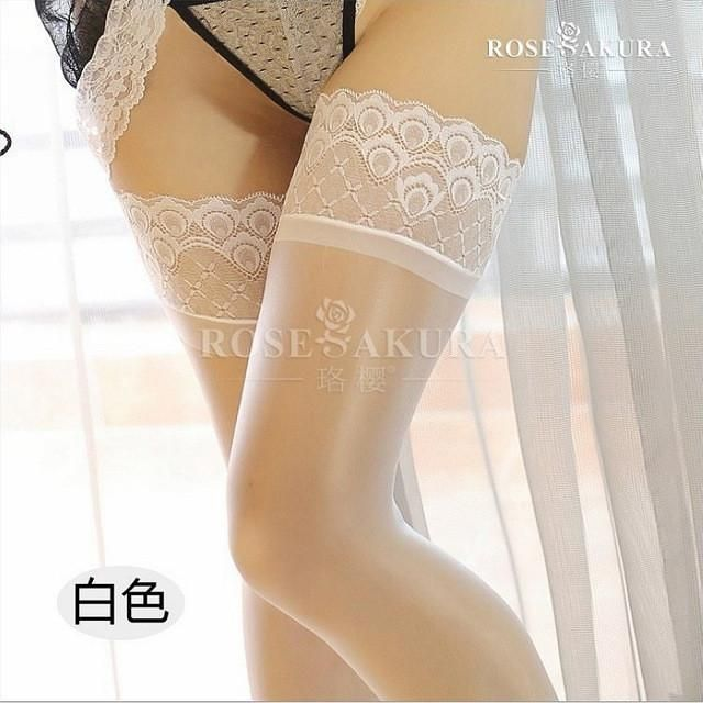 472437c1f5e 15D Womens Lace Top Silicone Stay Up shine thigh high Stockings ...