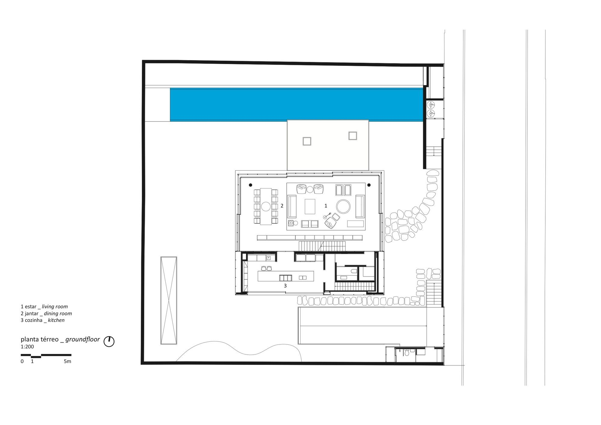 Gallery Of Cube House Suzana Glogowski Studio Mk27 Marcio Kogan 25 Sims House Plans Ground Floor Plan House Layouts