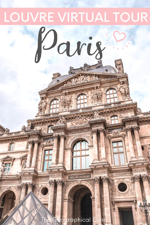 Louvre Virtual Tour From Home   Louvre paris, Virtual tour ...