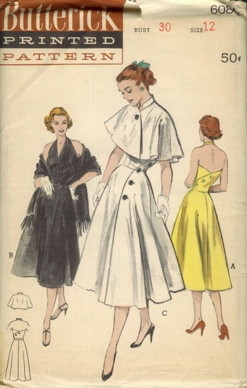 Butterick 6084 | Patterns ala Vintage | Pinterest | Vestidos, Moda ...
