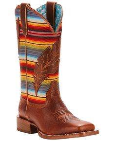 13c459a44da Ariat Womens Circuit Feather Cowgirl Boots - Square Toe