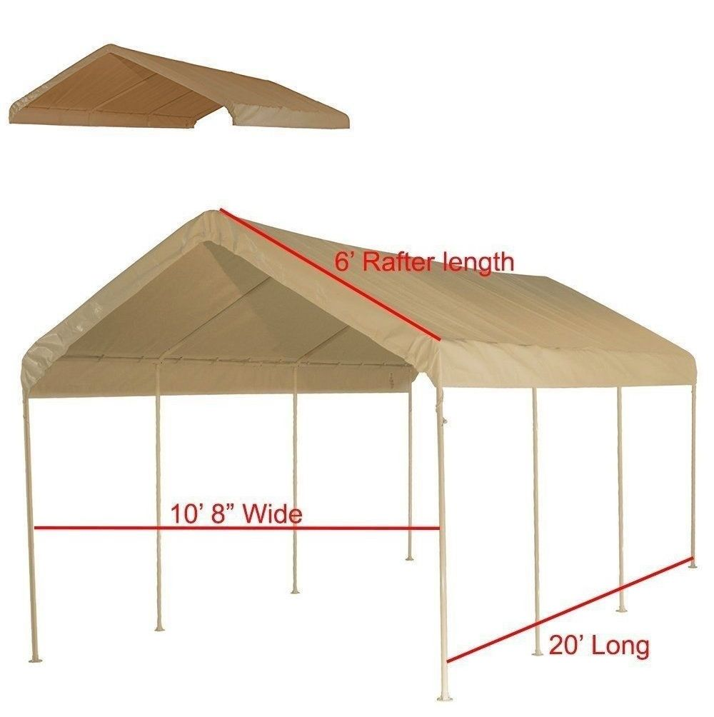 Awnings And Canopies 180992 10 X 20 Frame Canopy Replacement Cover Beige Buy It Now Only 89 On Ebay Awnings Canopies Frame Canopy 10 Things Cover