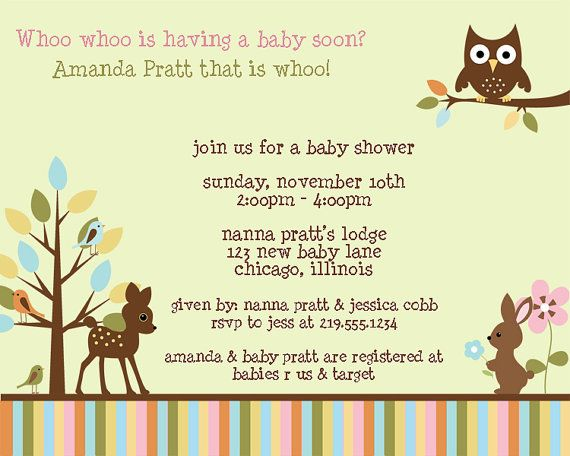 Forest Animals Baby Shower invitations or by TheInviteLadyShop, $6.50