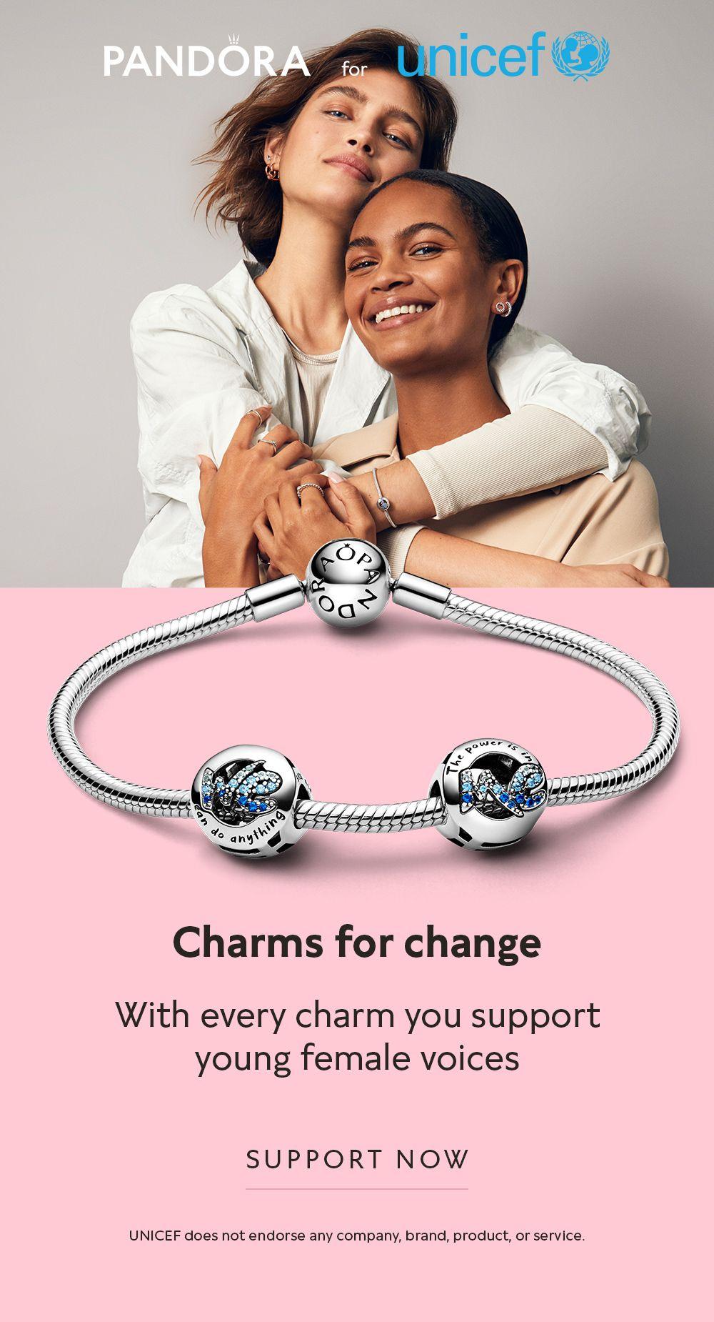 Charms for Change | Unicef, Pandora, Pandora bracelet charms