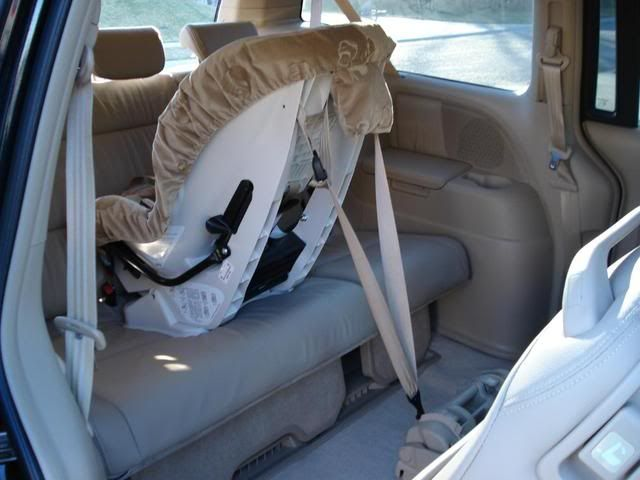 Finding A Good Rear Facing Tether Point For Honda Odyssey S 2005 2011 Car Seat Org Carseat Automobile Honda Odyssey Child Passenger Safety Child Passenger