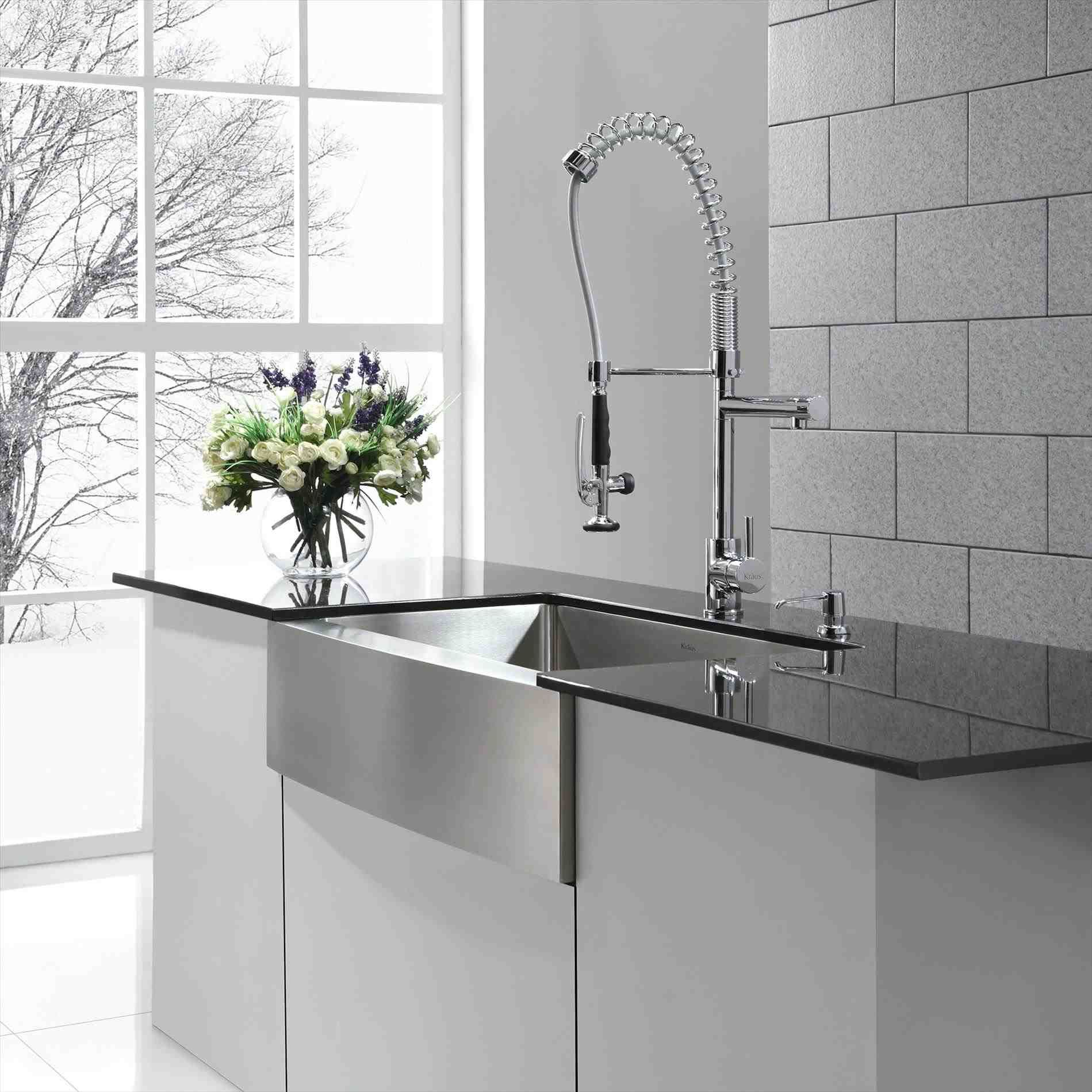 New Post kitchen sink with faucet set Decors Ideas