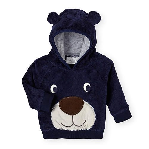 Koala Kids Boys Navy Faux Fur Bear Face Hoodie Koala Kids Kids Boys Baby Boy Outfits