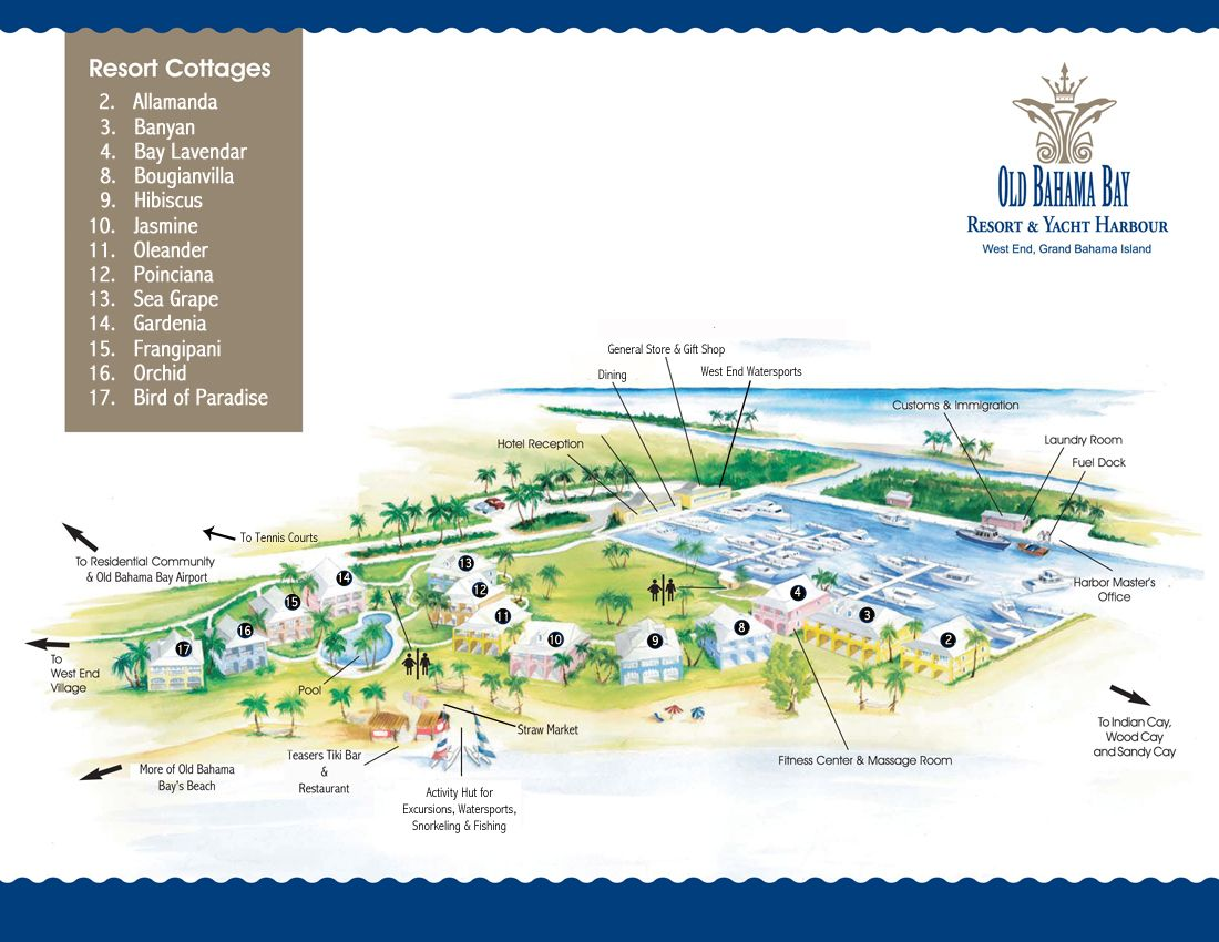 bahama bay resort map Map Of Old Bahama Bay Resort Yacht Harbour June 106 Bahamas bahama bay resort map