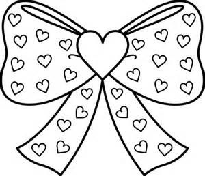 Bow with Hearts Coloring Page - Free Clip Art | Cricut Nail Art ...