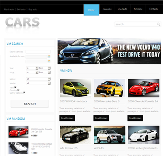 This free Joomla car template includes a minimal design, a ...