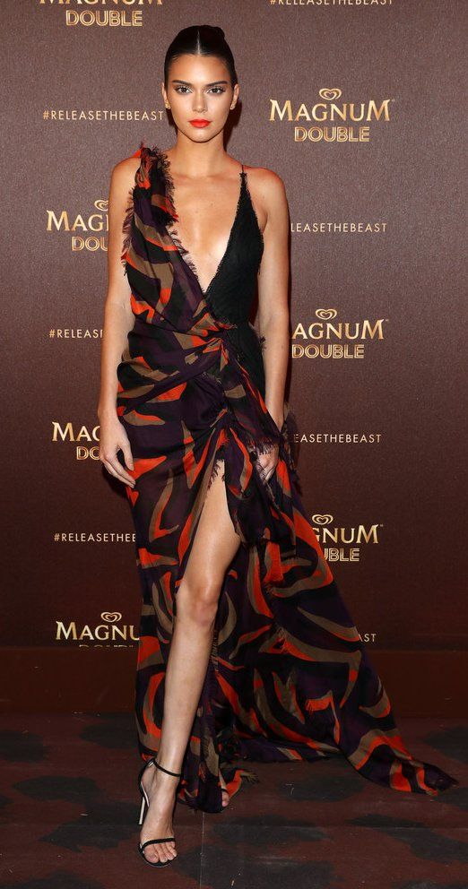 Kendall Jenner in Versace attends the Magnum Doubles Party at the annual 69th Cannes Film Festival. #bestdressed