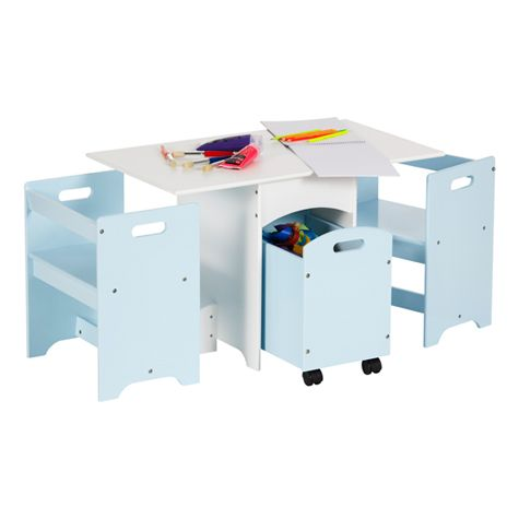 Brielle Kids Table Set Blue At $39.95 In Student Desks