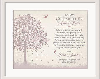 Padrinos de regalo regalo para los padrinos por GoldHousePrints