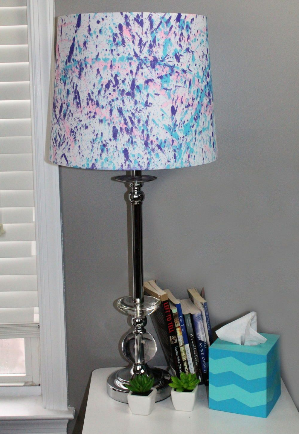 Splatter paint lamp shade painted lamp shades painted lamp and splatter paint lamp shade aloadofball Gallery