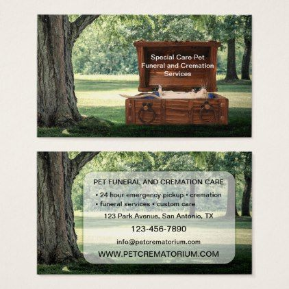 Pet funeral and cremation services business card pinterest pet funeral and cremation services business card reheart Choice Image