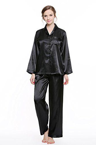 Women s Classic Satin Pajama Set Fabric Silky satin 4ec8c1f10