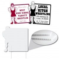 Wrestler Rectangle Shaped Corrugated Plastic Sign Corrugated Plastic Signs Are The Solution To Your Business Signs Corrugated Plastic Signs Advertising Signs