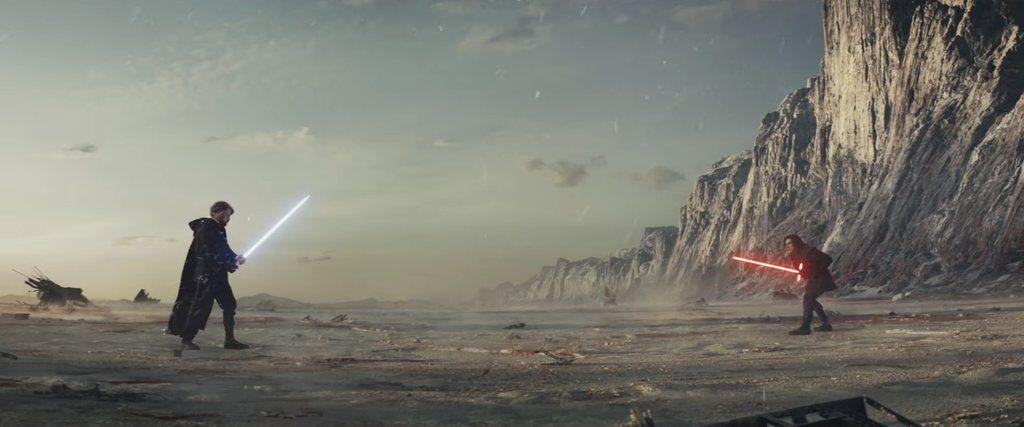 Screenshot From Star Wars Episode Viii The Last Jedi Scene When Luke Totally Kills It With The Force Star Wars Episodes Star Wars Sequel Trilogy Last Jedi