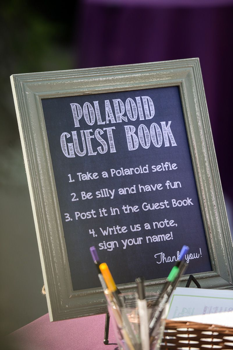 Great guest book idea for a wedding reception! Photo by