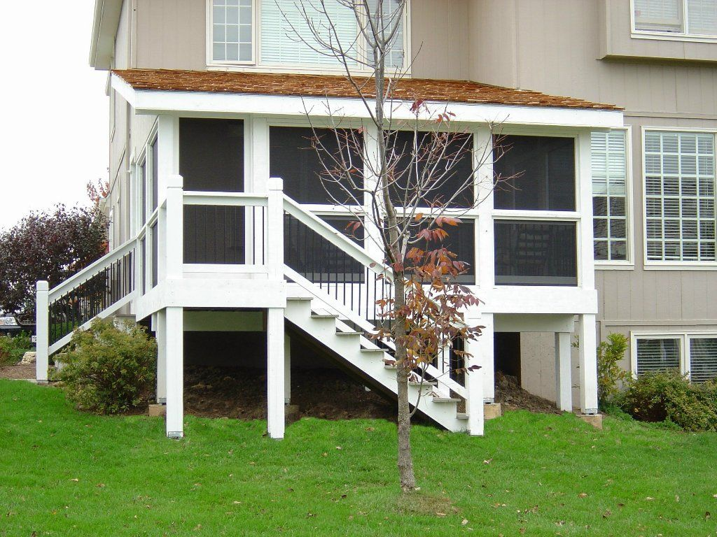 The porch roof could have relatively low pitch. **** Porch